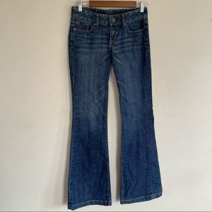 Express Fit and Flare medium wash low rise jeans 2